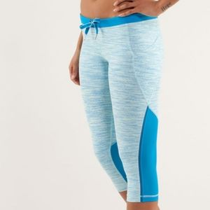 RARE Lululemon Wee Are From Space Blue Crop Pants